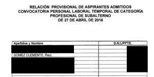 Relacion Provisional y fecha Consulado HH2016