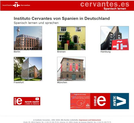 Institutos Cervantes Alemania